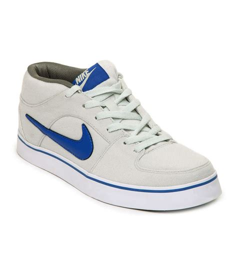 nike white synthetic leather casual shoes price in india