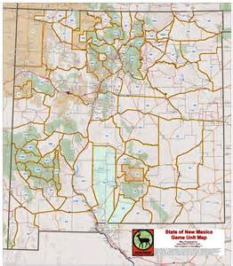 New Mexico Unit Map by New Shop State Game Unit Poster