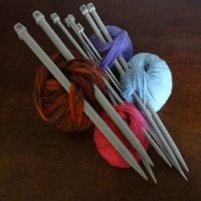 Knitting Pointed 25 Mm pony needles 25cm single point grey 3 0mm laughing hens