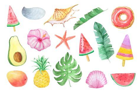 Watercolor Summer Vibes Set by Larysa Zabrotskaya