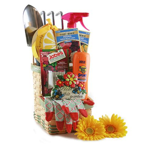 Gardening Present Ideas Summer Gifts Baskets Green Thumb Gardening Gift Basket 911 Gift Baskets
