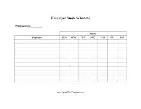 Office Hours Template by Work Hours For Employees Openoffice Template