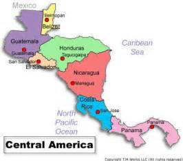 Central America Map Countries by Map Of Central America