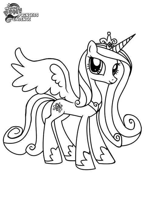 my little pony coloring pages cadence my little pony princess cadence coloring pages