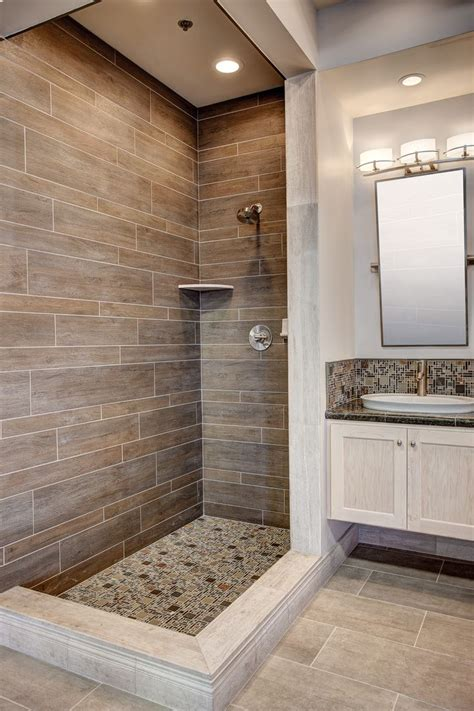 wood look tile in bathroom best 25 wood tile shower ideas on pinterest rustic