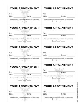 free printable appointment cards templates printable doctor appointment treatment reminder cards