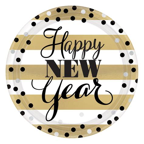 new year paper plates uk golden new year paper plates 22cm 12 pkg 8 amscan