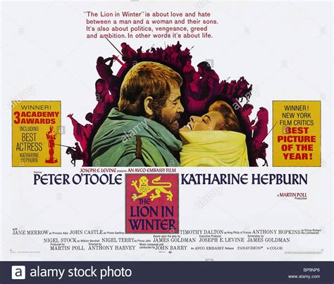 film a lion in winter film poster the lion in winter 1968 stock photo royalty