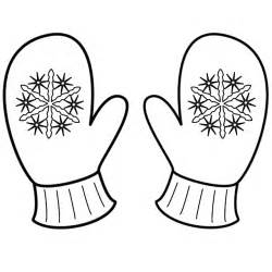 Mittens With Snowflakes  Coloring Page Christmas sketch template