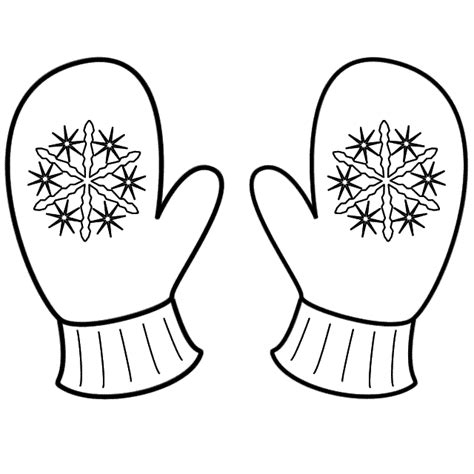 coloring pages of mittens and hats coloring page hivern pinterest mittens sunday