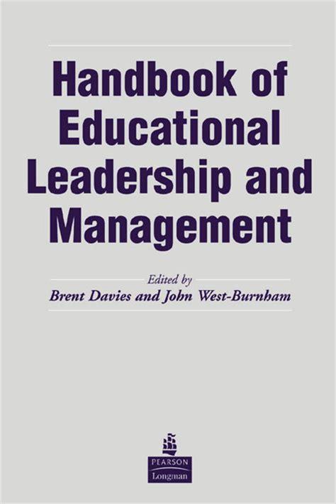 Mba Educational Leadership Uk by Pearson Education The Handbook Of Educational Leadership