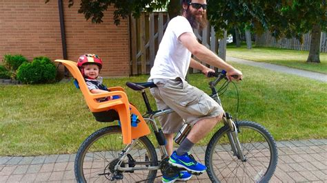 bicycle with baby seat thule ridealong child bike seat review