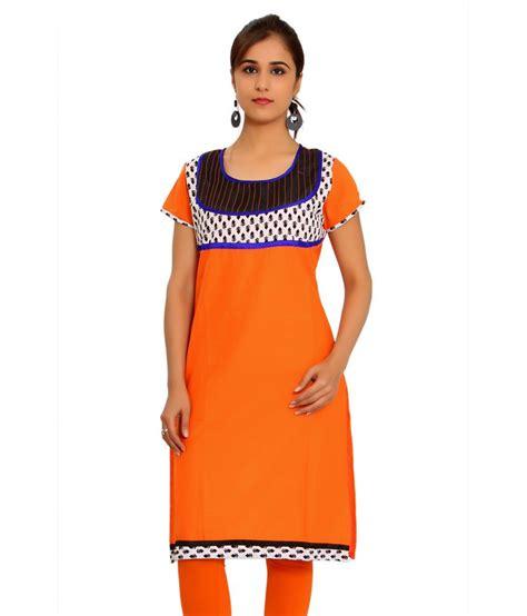 globus orange cotton knitted neck kurti price in 101fashion orange plain cotton half sleeves neck knitted kurti buy 101fashion orange