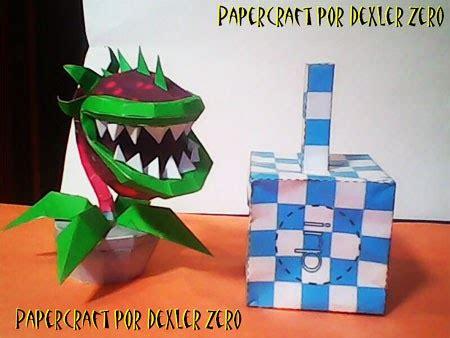 plants vs zombies paper crafts plants vs zombies chomper papercraft paperkraft net