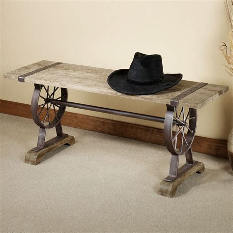 western benches open range western wooden bench