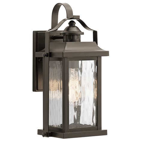 Outdoor House Light Fixtures Shop Kichler Linford 13 75 In H Olde Bronze Medium Base E 26 Outdoor Wall Light At Lowes