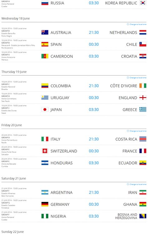 world cup match 2014 world cup match schedule pdf www imgkid the