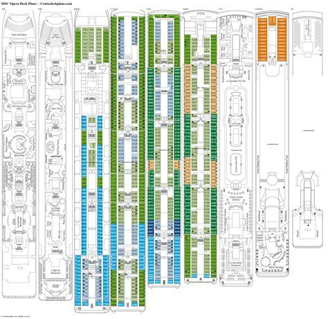 msc opera deck plans diagrams pictures video