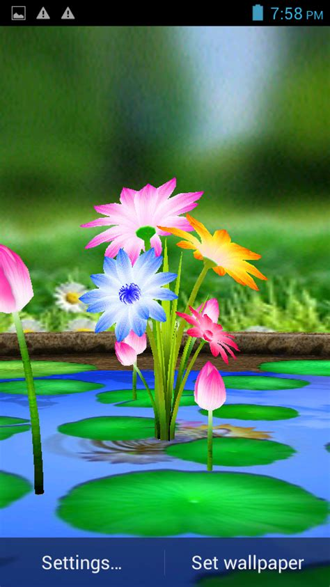 themes download for touch screen mobile 3d flowers touch wallpaper android apps on google play