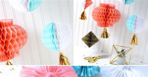 How To Make Honeycomb Paper Decorations - aly dosdall honeycomb paper decorations