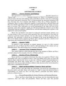 Master Contract Template 6 master contract template timeline template