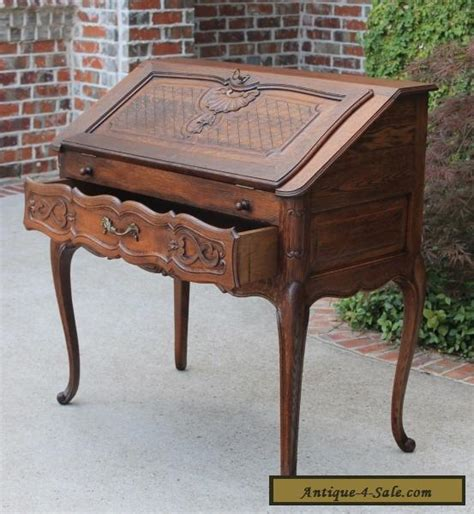 louis xv writing desk antique oak louis xv fall front writing desk bureau