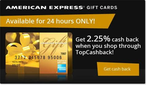topcashback 2 25 cash back on amex gift cards - Amex Gift Card Cash Back