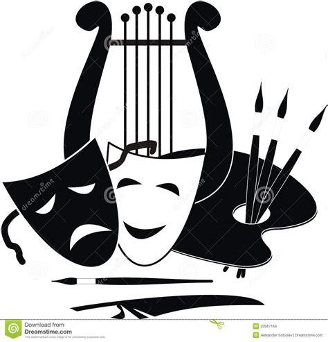 imagenes y simbolos en las artes s 237 mbolos de los artes m 250 sica y teatro ilustraci 243 n del