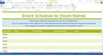 snack calendar template search results for printable sports sign up sheet