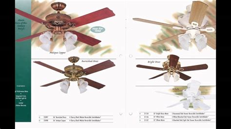 cherry ceiling fan ceiling fan showroom collection catalog from 1997