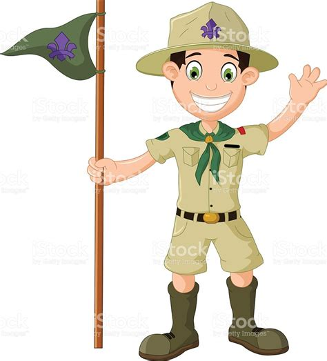 clipart scout hiking clipart boy scout pencil and in color hiking