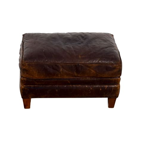 restoration hardware leather ottoman used ottoman home design