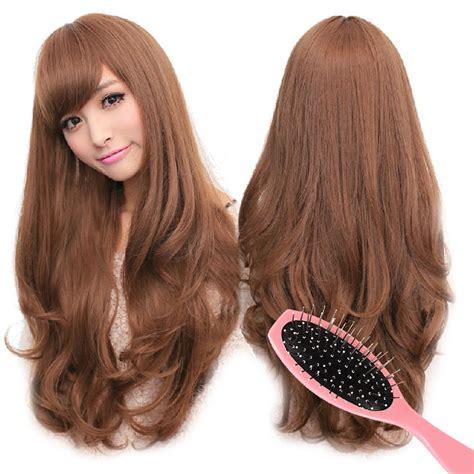 Wig Rambut Panjang Untuk Wanita wig rambut panjang ikal tebal untuk wanita