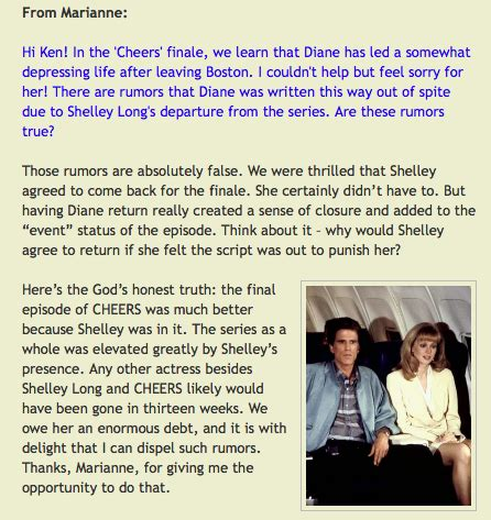 by ken levine did shelley long try to get kelsey grammer fired chambers and malone