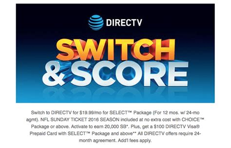 Nfl Visa Gift Cards - how to get 300 gift card bonus with directv activation