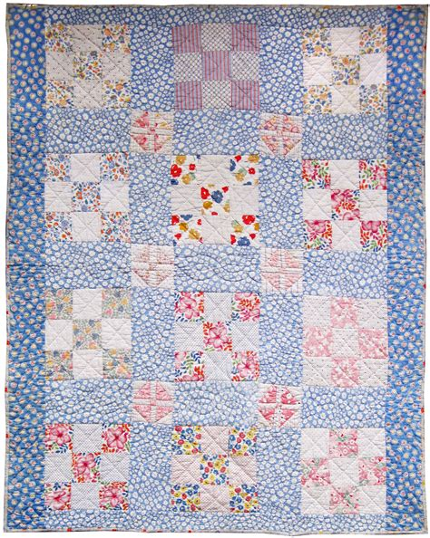 Crib Quilts by Vintage 9 Patch Crib Quilt 1930s Q Is For Quilter