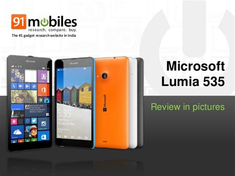 Review Microsoft Lumia 535 microsoft lumia 535 review in pictures