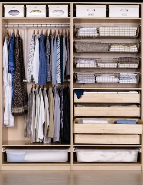 closet drawers ikea brilliant bedroom wardrobe cabinet with pull out wire basket organization