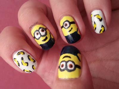 imagenes de uñas acrilicas amarillas manicura minions
