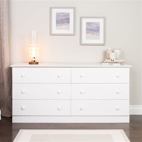 prepac bedroom furniture prepac white edenvale 6 drawer dresser home furniture