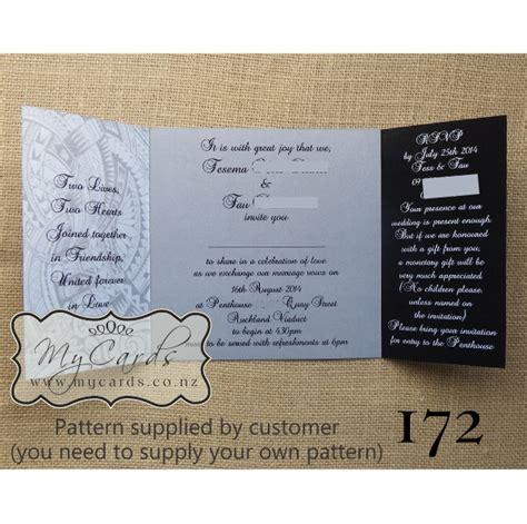 Wedding Invitations Island by Pacific Pattern Gatefold Wedding Invitation Design 172