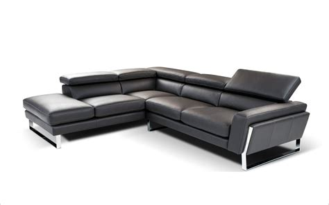 Modern Black Leather Sectional by Napoli Modern Black Italian Leather Sectional Sofa