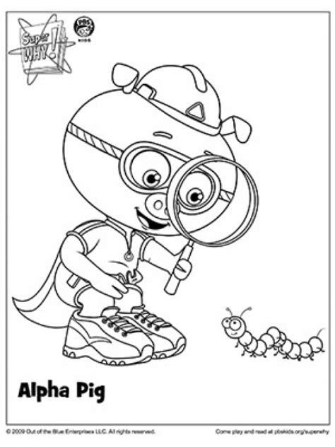 alpha pig coloring page super why coloring pages az coloring pages