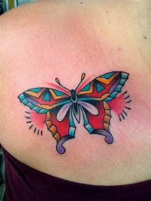 colorful butterfly tattoos colorful butterfly