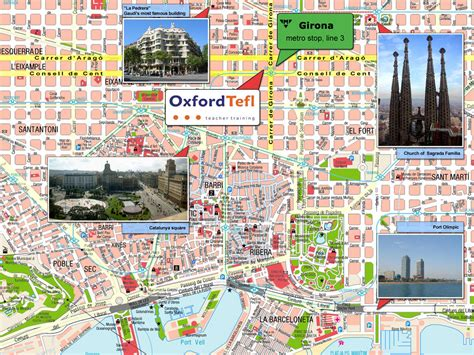barcelona map tourist attractions barcelona tourist map barcelona spain mappery