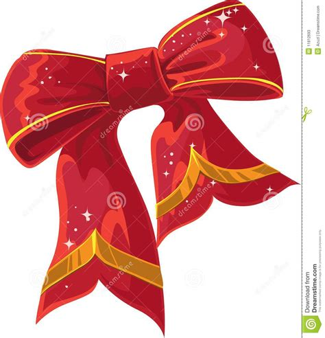 xmas red decoration bow stock illustration image of