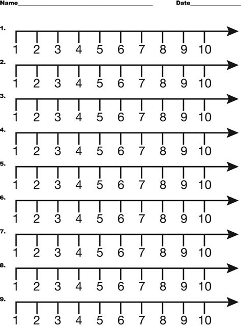 printable number line 1 to 10 image gallery number line 1 10