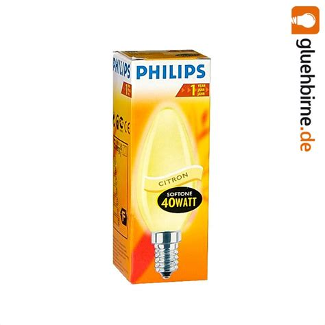 Lu Philips 40 Watt philips gl 252 hbirne kerze softone yellow gelb 40w e14 gl 252 hlam