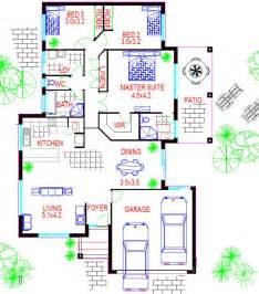 3 bedroom double garage low set home australian kit