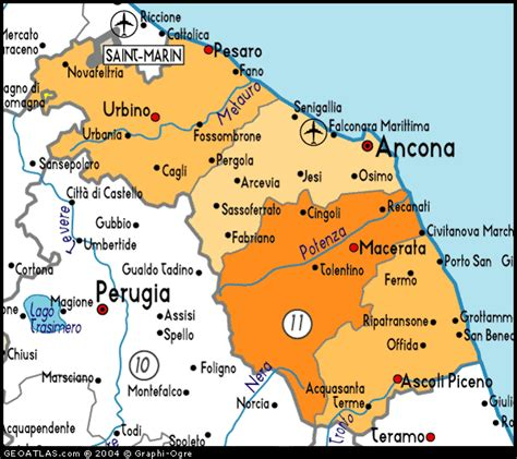 map of marche map marche italy italy atlas